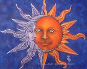 Art Print Sun and Moon Ce...
