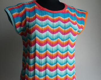 Women's top, T.38/40, made of pure Egyptian cotton, sleeveless