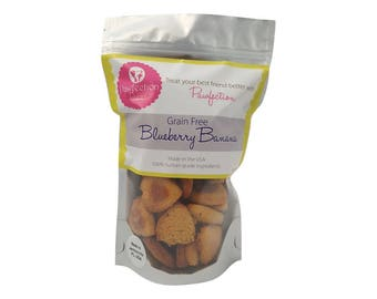 Grain Free Blueberry Banana Dog Treats