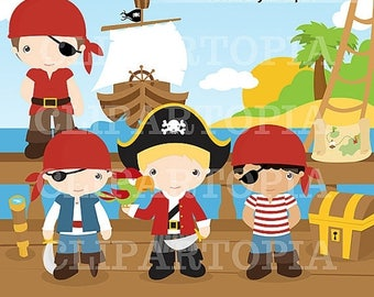 50% OFF SALE Pirates Digital Clipart for Personal and Commercial Use