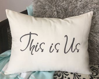 This is Us Pillow, Gift pillow, Wedding Pillow, Couples Pillow, Newlywed pillow, Farmhouse pillow, Anniversary pillow, Family pillow