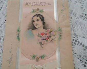 Vintage Birthday Card from Husband to Wife
