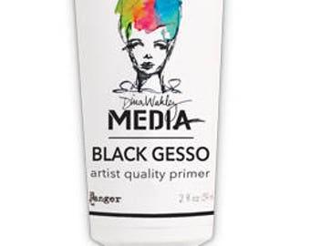 Dina Wakley BLACK GESSO 2 oz tube Media Mediums MDM1702 1.cc03
