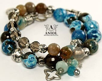 SUMMER TIME  Handmade Bracelets, 100% Sterling Silver - Natural Stones - Womens Bracelet -Womens Jewelry