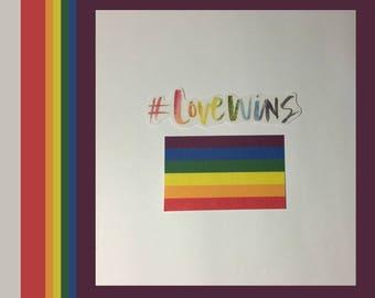 Love Wins / LGBTQ+ Pride Stickers - Set of 2