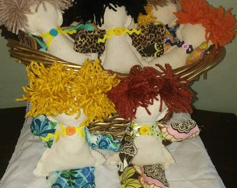 Remove Your Stress and Frustration Handmade Country Della Dammit Doll Button RicRac Cottage Country Shabby