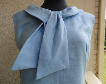 Blue Linen Sears Dress