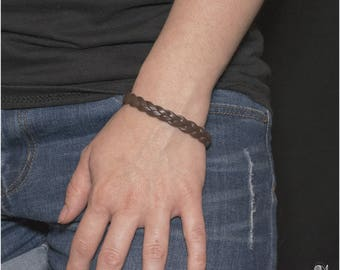 """Bracelet woman / braid / leather / handmade / for her / for him /  """"Avario"""" Collection"""