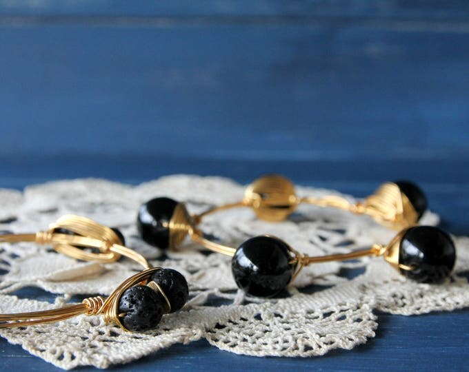 Onix bangles Gemstone stacking bangle