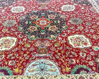 Grand Masterpiece Tabriz 5x8 Meter 16x24 Feet Silk Base With Pure Vegetable  Dye Color