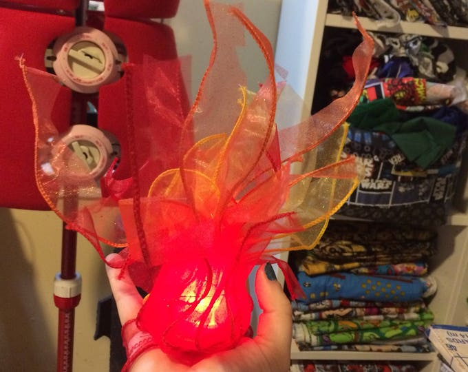 Fire cosplay prop, magic light cosplay prop, handheld flame accessory