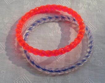 Lot Of Colorful Child Doll  Size Plastic Bangles