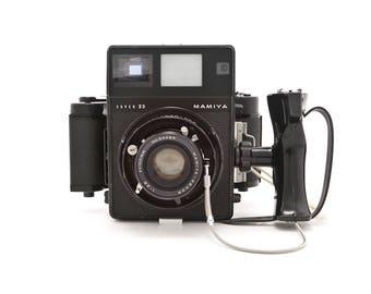 MAMIYA Super 23 with MAMIYA-Sekor 100mm Lens and 6x9 film back - Medium Format Press Camera