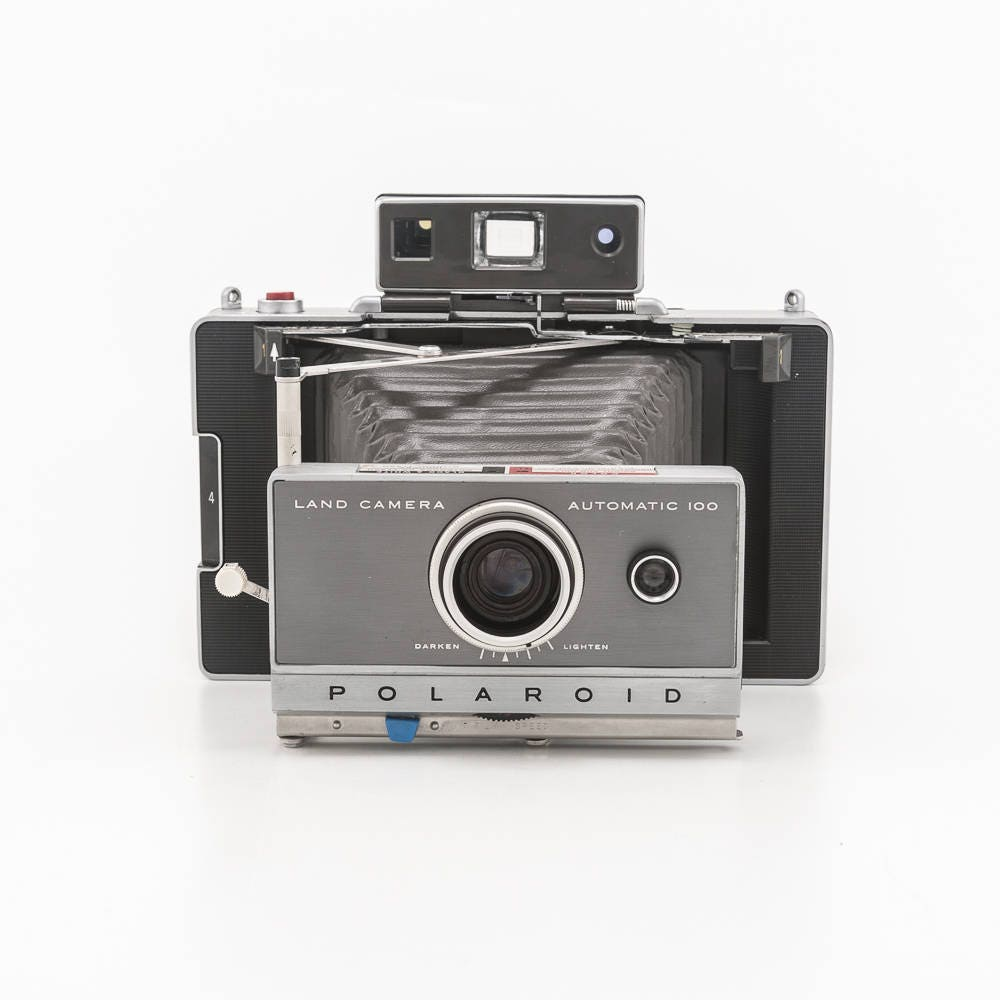 polaroid automatic 100 land camera film tested and working with rechargeable battery. Black Bedroom Furniture Sets. Home Design Ideas