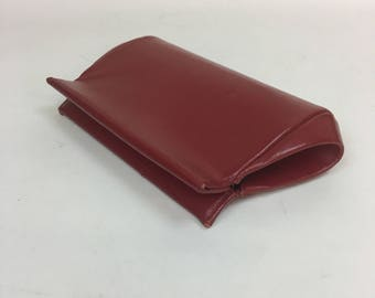 Vintage 1950s RED leather Clutch