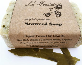 Organic Soap - Seaweed Soap- Handmade Soap