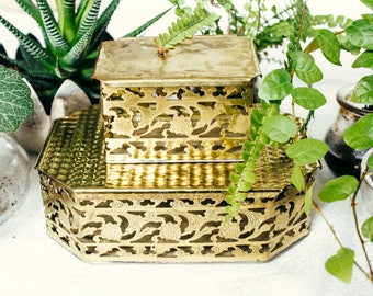 Vintage Virginia Heritage Brass Boxes (2)