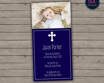 Baptism Bookmark | Christening Bookmark | Digital Files