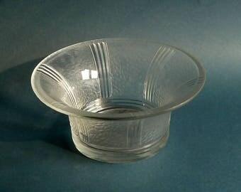 Val st Lambert Art deco crystal  bowl