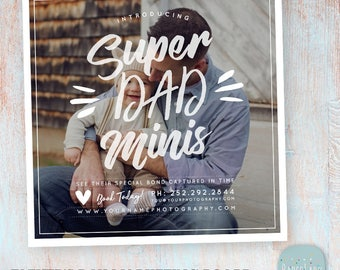 Daddy and Me Mini Session template - Father's Day - Photoshop template - IF023 - INSTANT DOWNLOAD