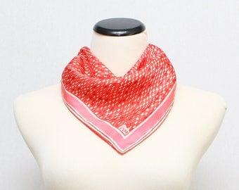 50s Vera Neumann Scarf - Vintage 1950s Red and Pink Silk Vera Scarf