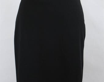 Valentino Roma Womens Vintage 1990s 90s Black Pleated Skirt SZ 6 US