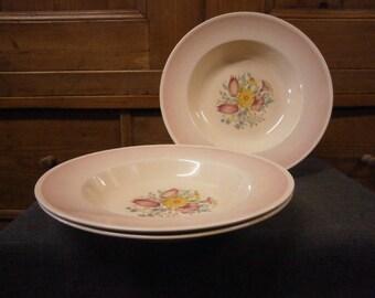 Susie Cooper Soup Bowls x 3 - Vintage
