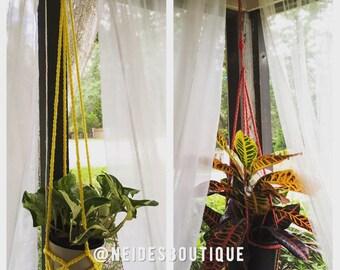 Plant hanger, home decor,  crochet plant hanger,  apartment plants