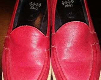 Pena Haus Red Loafers