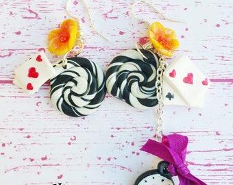 Alice the Wonderland earrings