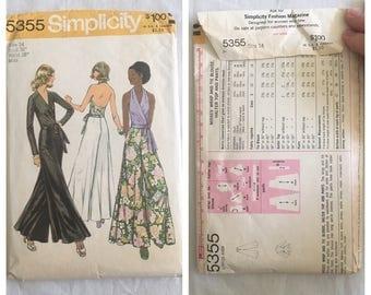 FLASH SALE Vintage 1970's Simplicity 5355 Pattern
