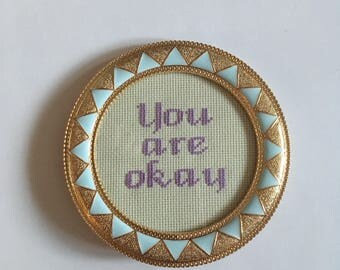 You are okay cross stitch