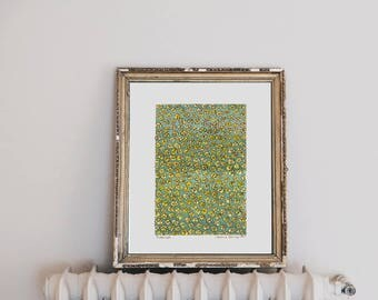 Yellow Flower Art Print- Kitchen Decor, Art Print, Botanical Art Print, Green Home Decor, Spring Decor, Herbal Artwork, Gift for Gardener