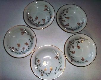 Noritake Florence Set Of Five Coupe Soup Bowls