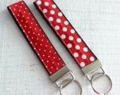 Key Fob Wristlet in Red w...