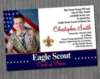 FLASH SALE Eagle Scout Court of Honor Invitations