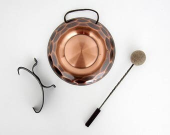 Vintage Dinner Gong // Shabby Chic Handmade Steel Copper Dahlmann KG West Germany Gong