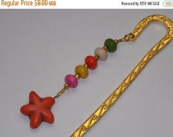 15%OFF Orange Magnesite Starfish Rainbow Bookmark