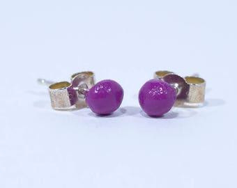Petite Purple Stud Earrings