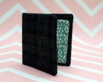 Men's Harris Tweed wallet with coin section - billfold - money clip