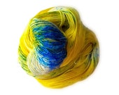 Hand Dyed/Painted Yarn — Fingering weight sock yarn 80/20 Superwash Merino/Nylon wool Yarn