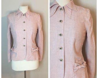 Vintage 1940's Pink Cotton Blazer by Balaban Altman