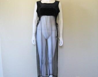 Velvet Sheer Mesh Dress