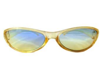 60s Sunglasses, Vintage Sunglasses, Yellow Sunglasses, Wrap Around Sunglasses, Sun Glasses, Plastic Sunglasses, Retro Sunglasses, Hipster