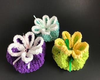 Flower Petal Scrubby Dishcloth Gift
