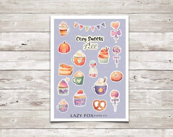 Fall Sweets Deco Sheet | Deco Stickers