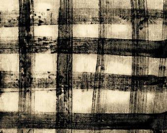 Treasure Hunt by Marcia Derse Buffalo Plaid White Light Grey with Black 43192-27 Fabric BTY