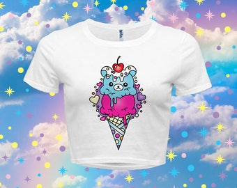 Rilakkuma Ice Cream - Women's Crop Top