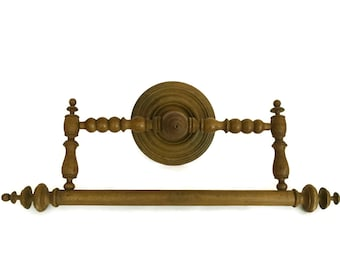 Antique Wooden Towel Ring. Large French Bathroom Wall Towel Rack. Victorian Home Decor. Ciel de Lit Bed Crown Canopy.