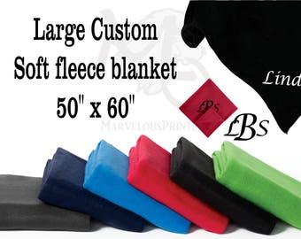 Personalized Large Soft fleece blanket